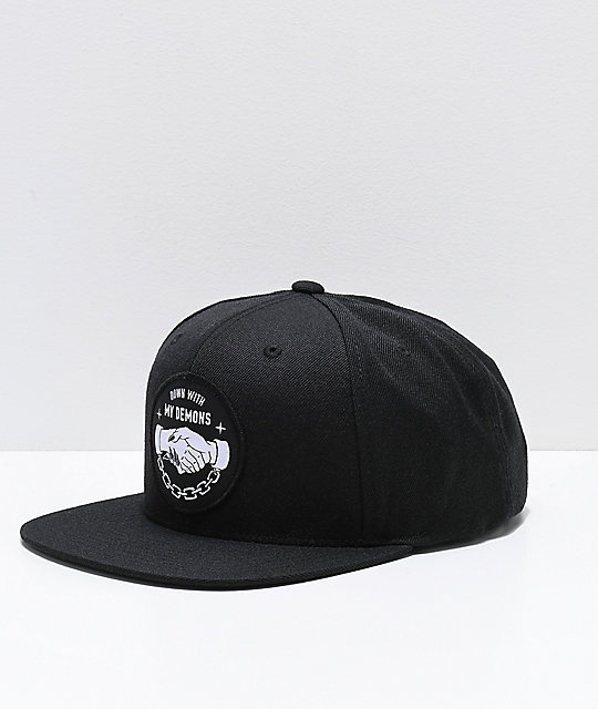 cf3c4b648ad5b Lurking Class By Sketchy Tank Down With My Demons Black Snapback Hat ...