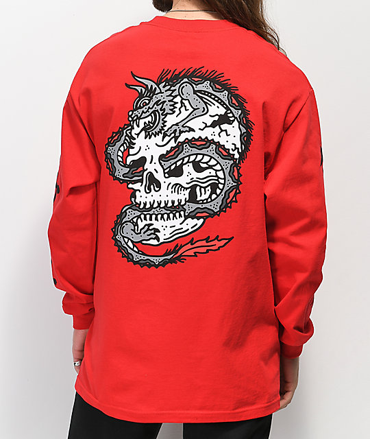 Lurking Class By Sketchy Tank Dragon Red Long Sleeve T-Shirt