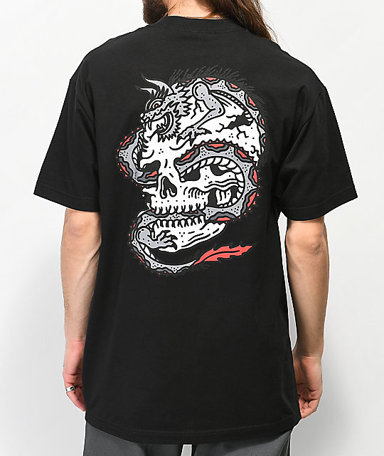 Lurking Class By Sketchy Tank Dragon camiseta negra