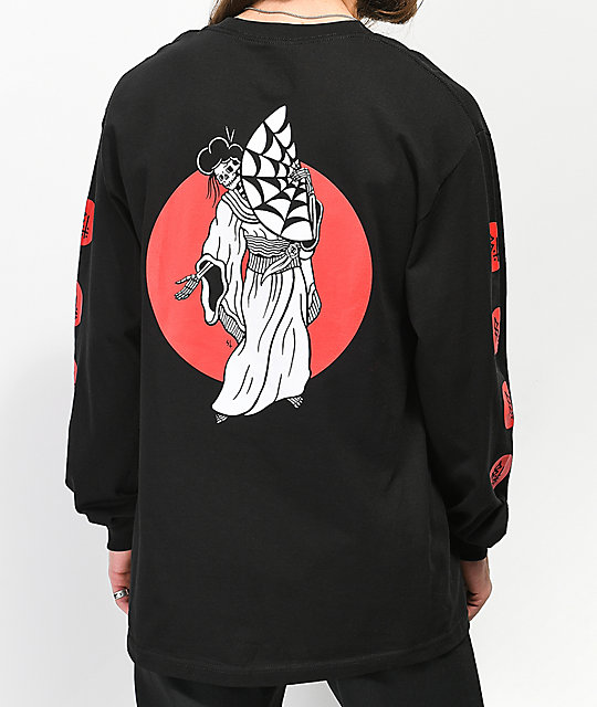 Lurking Class By Sketchy Tank Geisha Black Long Sleeve T-Shirt