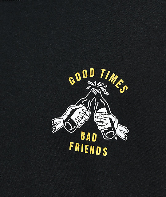 Lurking Class By Sketchy Tank Good Times Black & Yellow T-Shirt