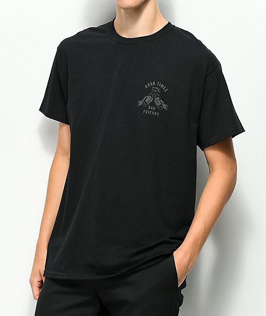 Lurking Class By Sketchy Tank Good Times Reflective Black T-Shirt