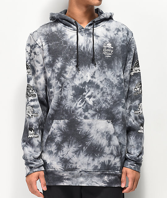 a2e034802851 Lurking Cl By Sketchy Tank Lurk Black Grey Tie Dye Hoo Zumiez