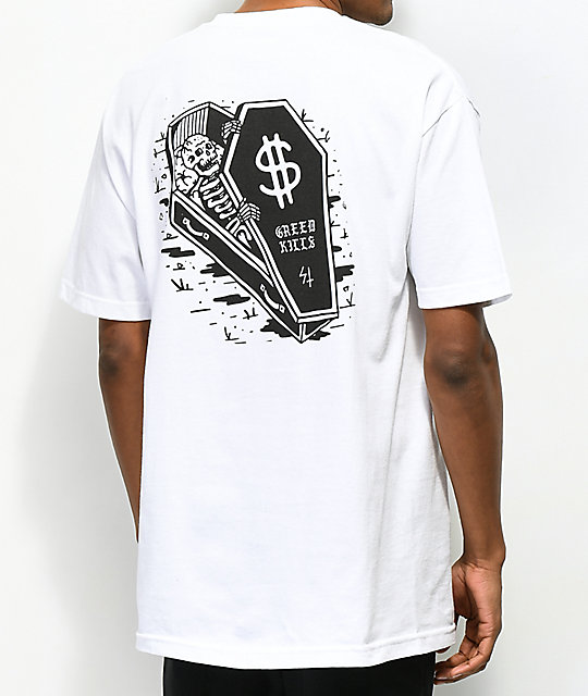 Lurking Class By Sketchy Tank Lurking Class Dollars White T-Shirt