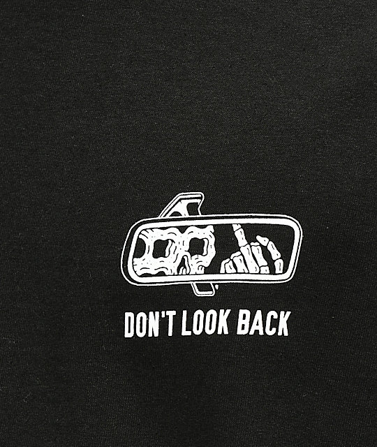 Lurking Class By Sketchy Tank Lurking Class Look Back Black T-Shirt
