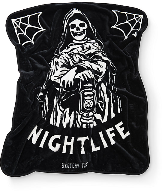 Lurking Class By Sketchy Tank Nightlife Blanket