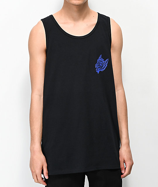 Lurking Class By Sketchy Tank Opinions Black & Blue Tank Top