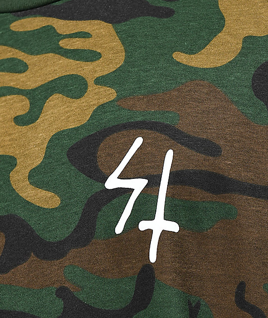 d5a982dc ... Lurking Class By Sketchy Tank Party's Over Woodland Camo T-Shirt
