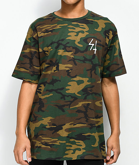 7ccf7576 ... Lurking Class By Sketchy Tank Party's Over Woodland Camo T-Shirt ...