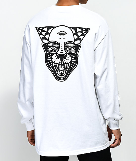 Lurking Class By Sketchy Tank Power White Long Sleeve T-Shirt