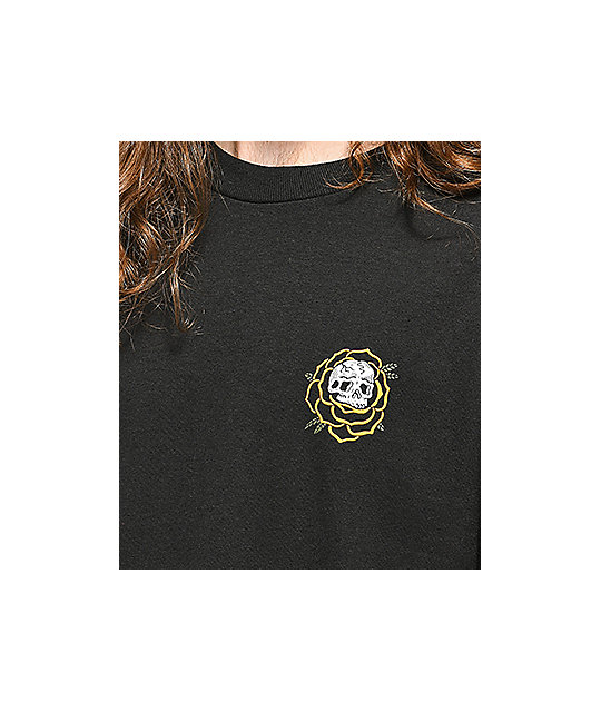 Lurking Class By Sketchy Tank Rose Black T-Shirt