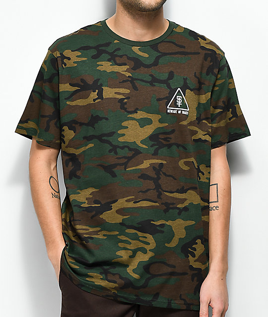 Lurking Class By Sketchy Tank Snakes Camo T-Shirt