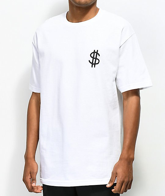 Lurking Class by Sketchy Tank Dollars camiseta blanca
