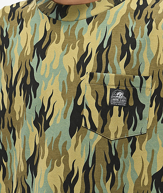 Lurking Class by Sketchy Tank Fuegoflage Demons Camo T-Shirt