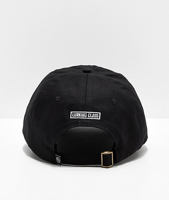 Lurking Class by Sketchy Tank Logo Black Strapback Hat