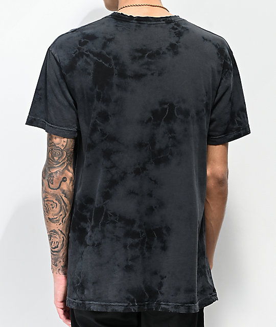 Lurking Class by Sketchy Tank Panther Black Tie Dye T-Shirt