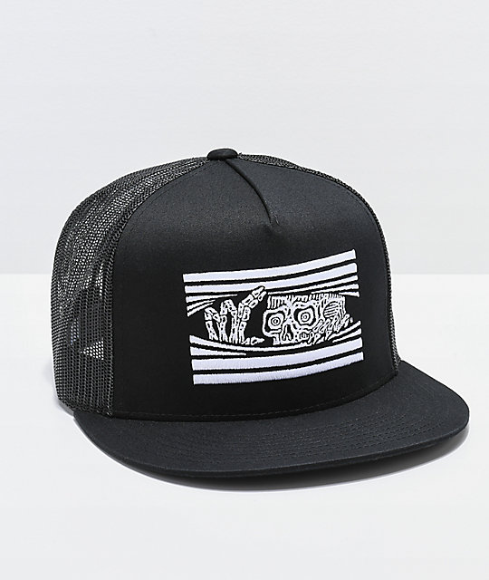 Lurking Class by Sketchy Tank Peeking gorra negra de camionero