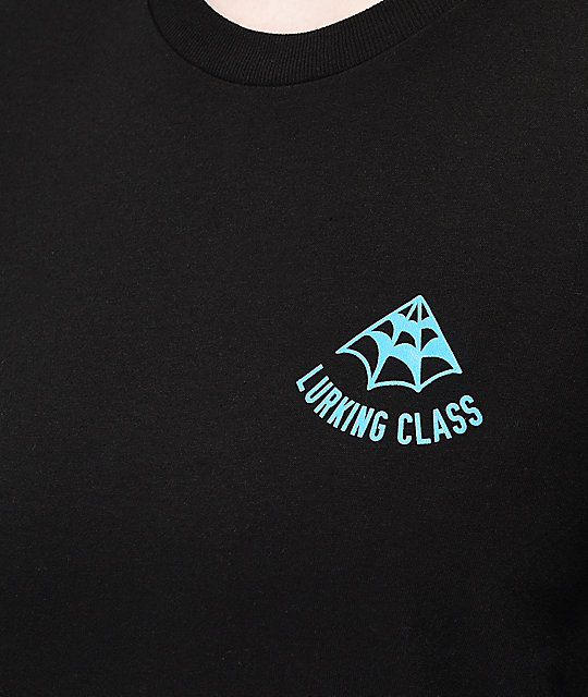 Lurking Class by Sketchy Tank Web Blacklight camiseta negra de manga larga