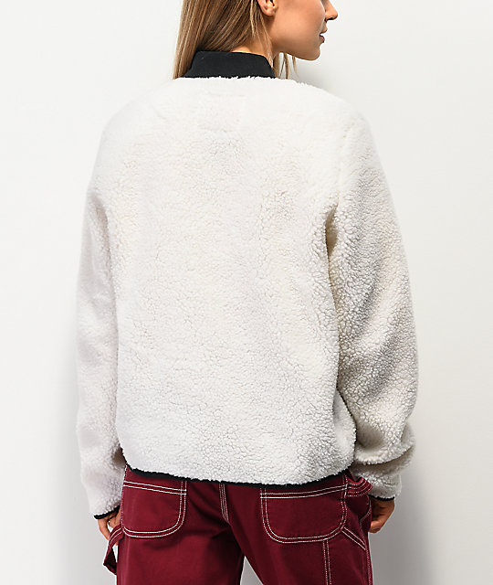 Lurking Class by Sketchy Tank White Sherpa Zip Jacket