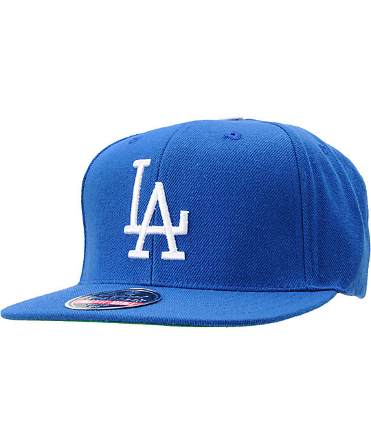 38c524b85 MLB American Needle Dodgers Cooperstown Blue Snapback Hat | Zumiez