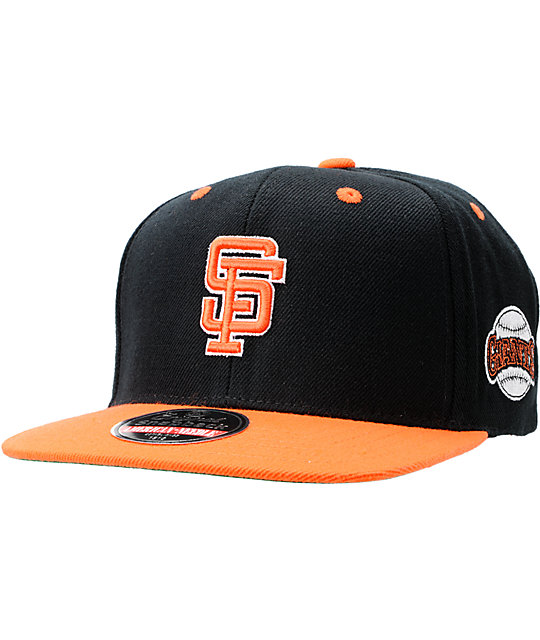 72d963ac0efcf3 MLB American Needle SF Giants Blockhead Black Snapback Hat | Zumiez
