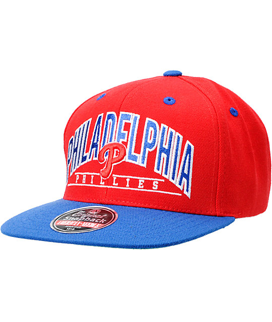 MLB Philadelphia Phillies Arched American Needle Snapback Hat