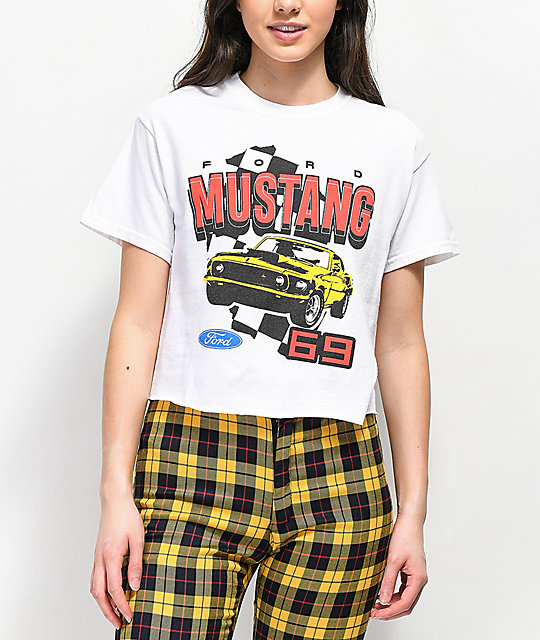 Mad Engine Mustang 69' camiseta corta blanca