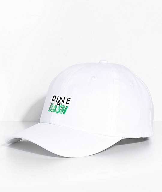 Made In Paradise Dine N Dash White Strapback Hat
