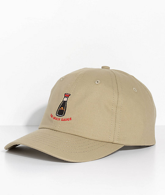 Made In Paradise Too Much Sauce Khaki Dad Hat  b06a3f8089d