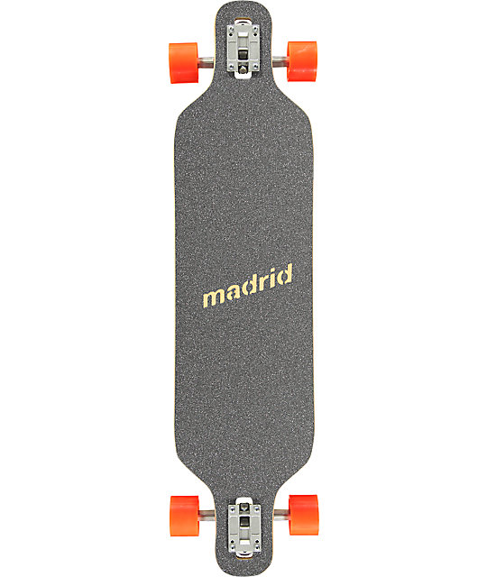 "Madrid Trance Fur 39""  Drop Through Longboard Complete"