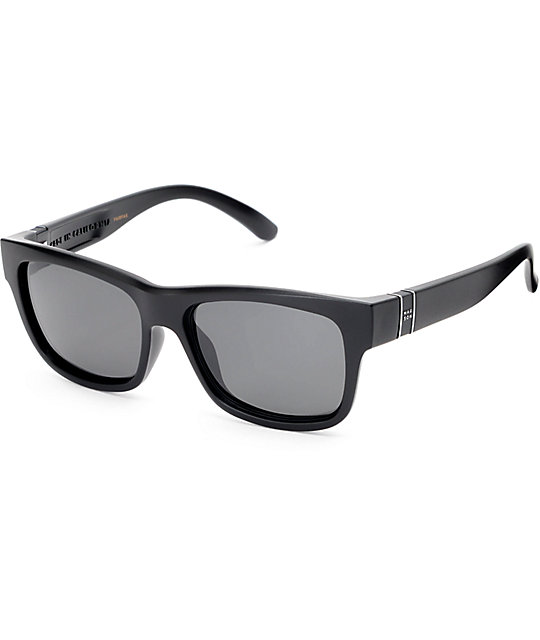 Madson Fairfax Matte Black & Grey Polarized Sunglasses