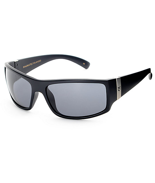 Madson Magnate Black Matte & Grey Polarized Sunglasses