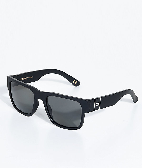 Madson Strut Matte Black & Grey Polarized Sunglasses
