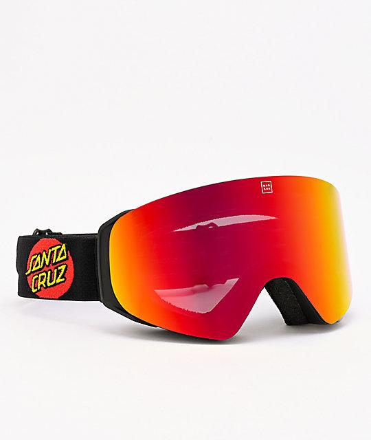 Madson X Santa Cruz Cylindro Screaming Hand Red Snowboard Goggles Zumiez