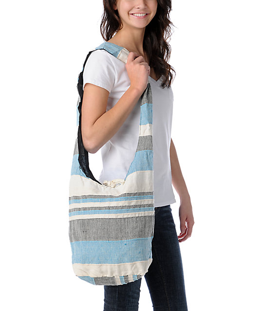 Magic Touch Light Blue & White Tote Bag