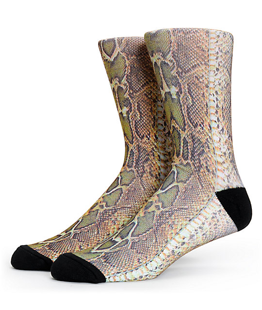 Magnum Snake Skin Sublimated Crew Socks