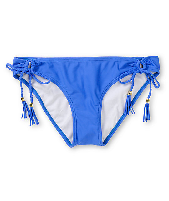 Malibu Candy Coated Blue Tunnel Tie Bikini Bottom