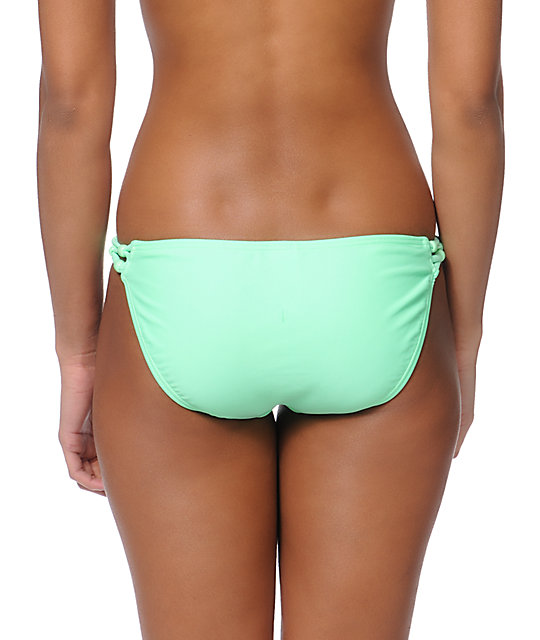 Malibu Candy Coated Mint Side Strap Bikini Bottom