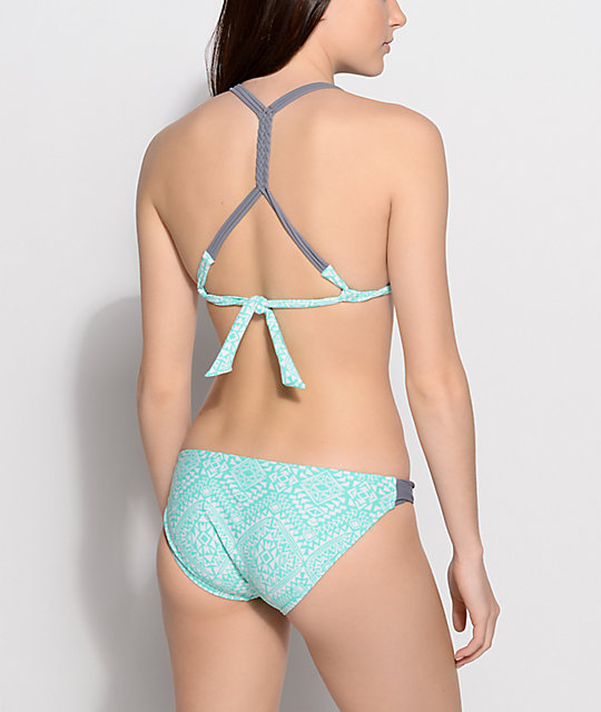 Malibu Native Diamonds Mint Molded Bikini Top