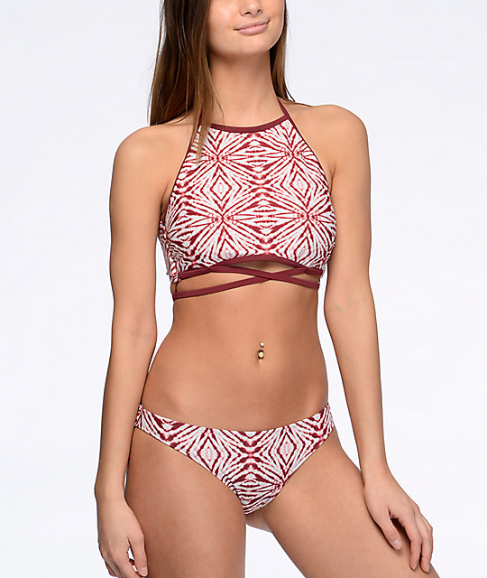 Malibu The Dive Burgundy Cheeky Hipster Bikini Bottom