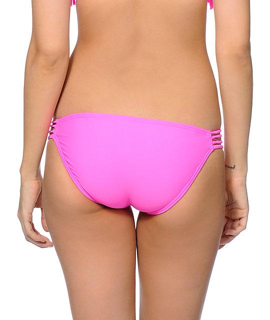 a8f696a090 Malibu Tropic Pink Side Strap Bikini Bottom