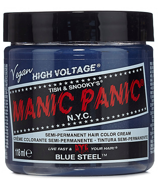 Manic Panic High Voltage Blue Steel Hair Color Zumiez