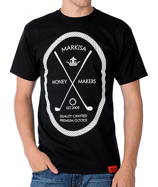 Markisa Money Makers Black T-Shirt