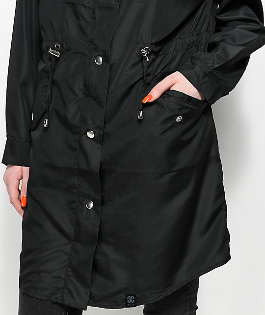 Married To The Mob Arc Logo Black Parka Jacket