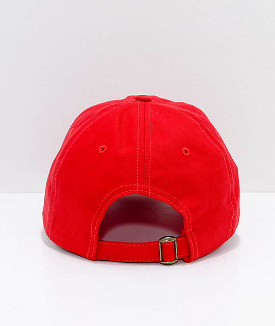 Married To The Mob Bitch Vibes Red Strapback Hat