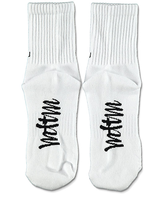 Married To The Mob Done With You calcetines blancos