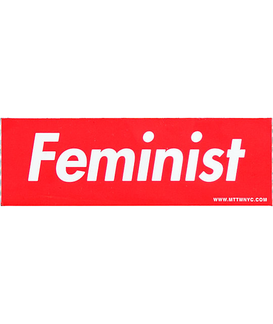 Married To The Mob Feminist Red Box Sticker on Color By Number For Boys