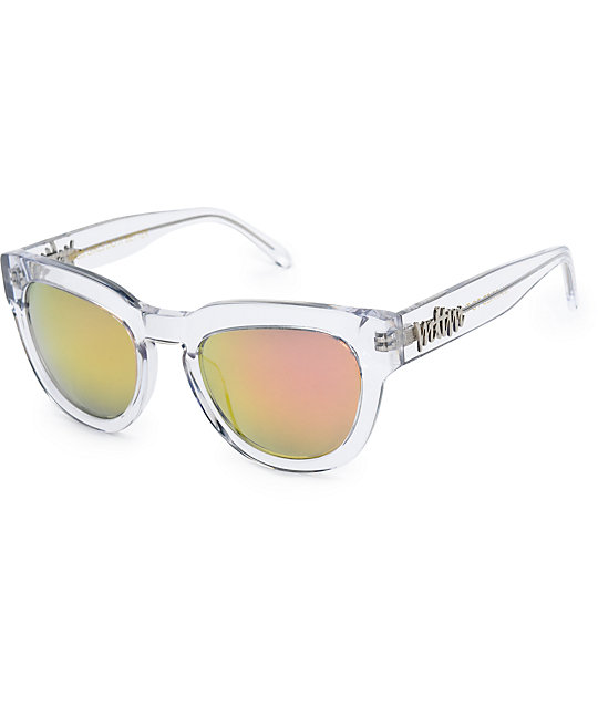 Married To The Mob Kiki Crystal Clear Sunglasses