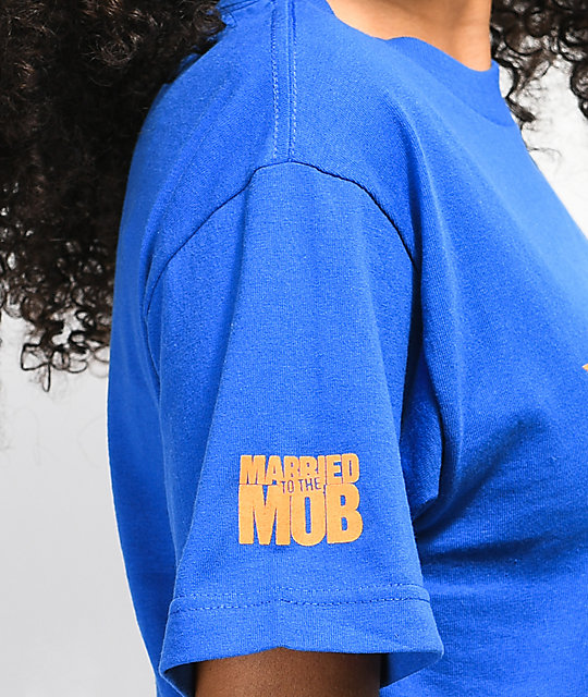 Married To The Mob Star Logo camiseta azul
