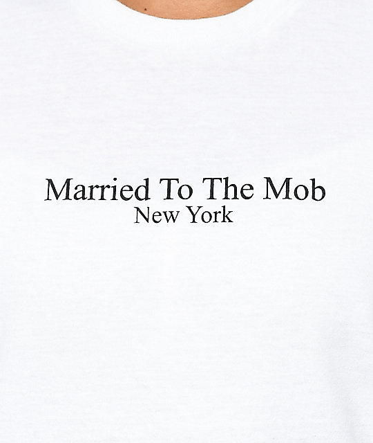 Married To The Mob Title camiseta blanca